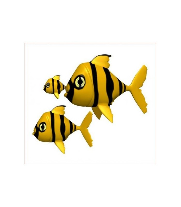 Sticker poissons jaunes