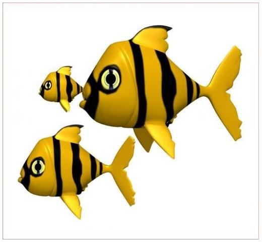 Sticker poissons jaunes