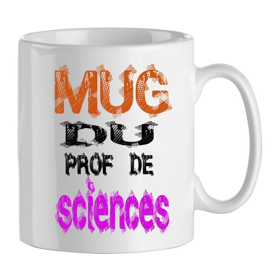 mug pour professeur et enseignant mug prof de sciences. Black Bedroom Furniture Sets. Home Design Ideas