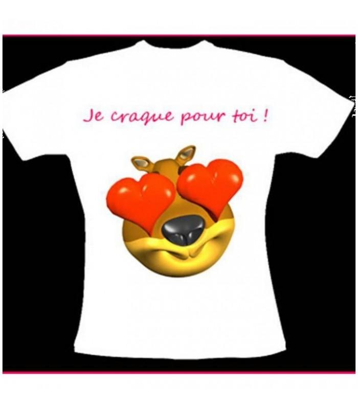 tee shirt avec un gros coeur