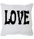 Coussin personnalisé fond love