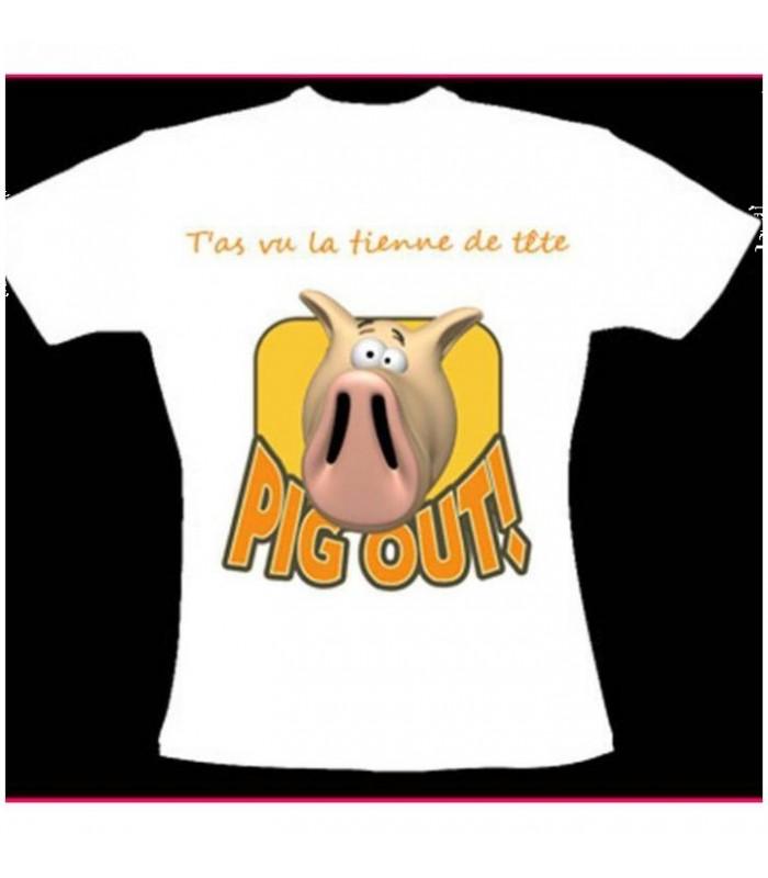 tee shirt avec cochon