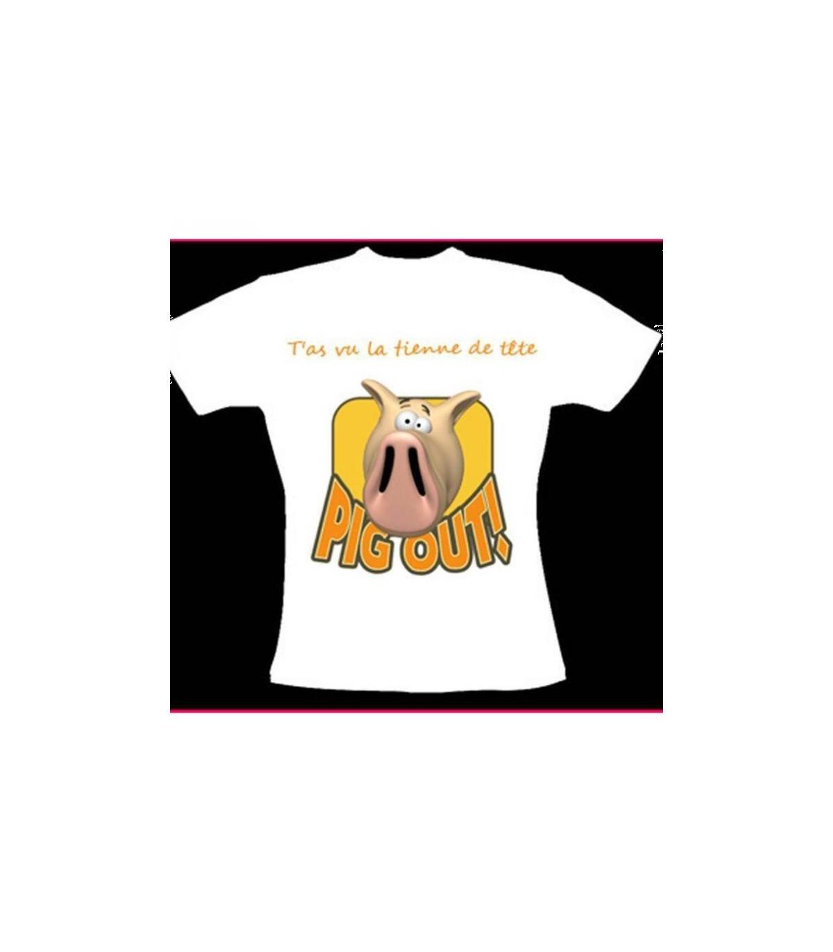 Tee shirt cochon
