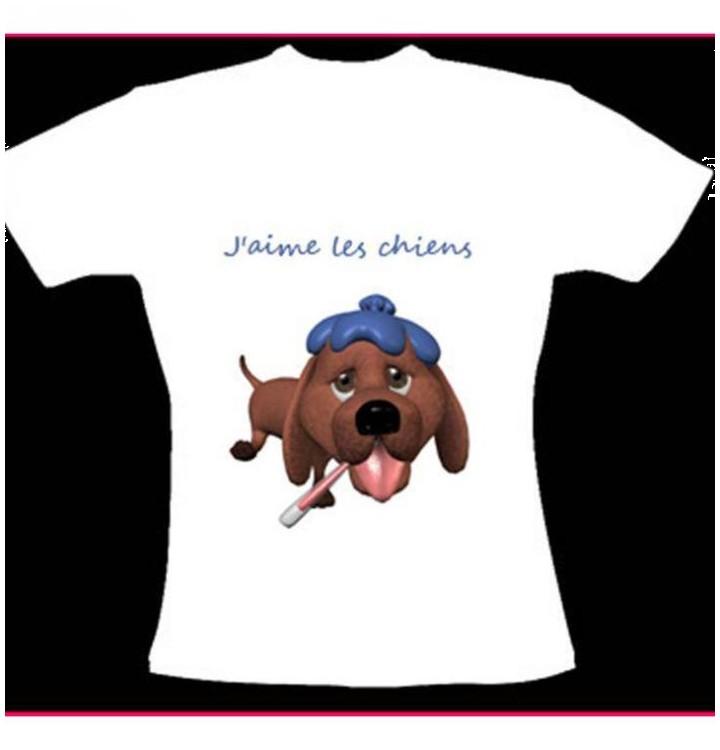 Tee shirt chien peintre