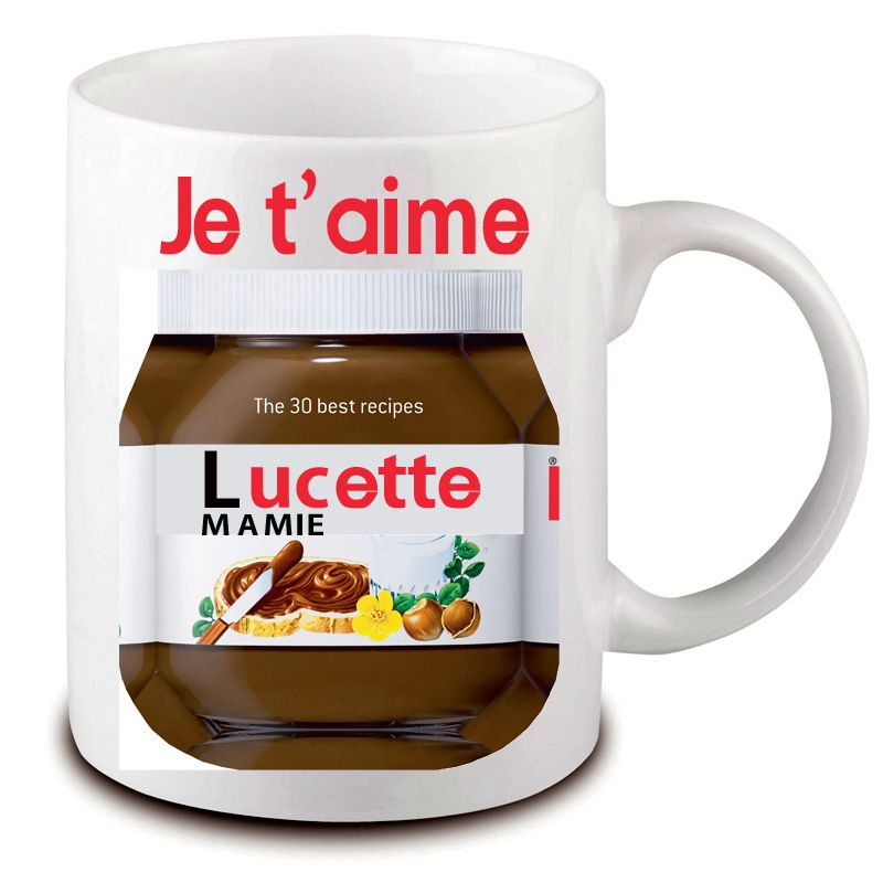 mug nutella personnaliser avec pr nom cadeau mug pas. Black Bedroom Furniture Sets. Home Design Ideas