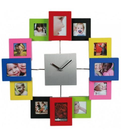 Horloge photo colorée 12 photos
