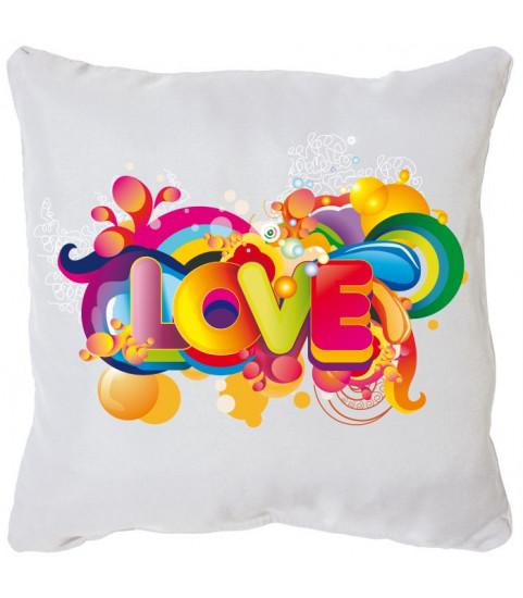 Coussin décoration mot love