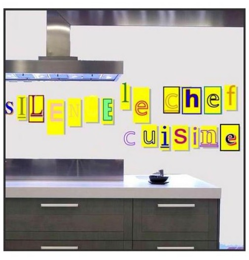 Sticker cuisine silence