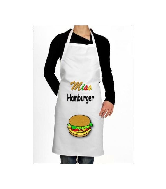 Tablier de cuisine hamburger, pour les amoureux de gastronomie américaine