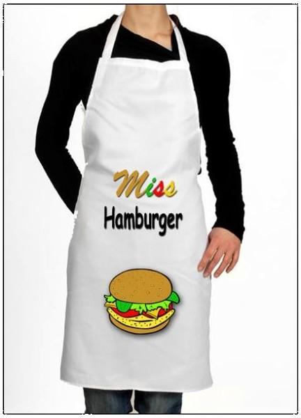 Tablier cuisine hamburger
