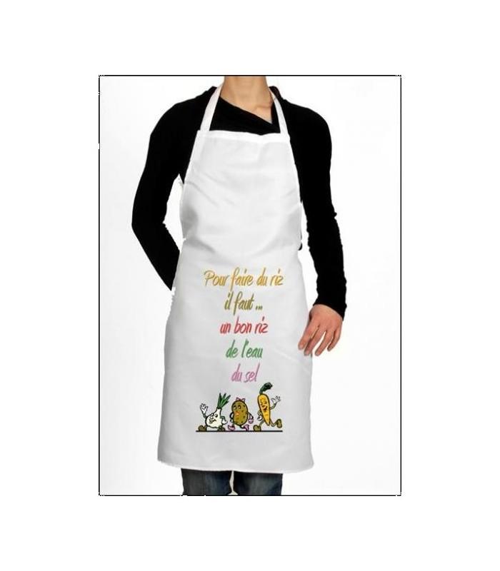 Tablier de cuisine personnalisé et amusant. Cadeau original et pas cher
