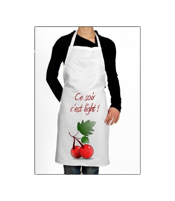 Tablier cuisine cerise