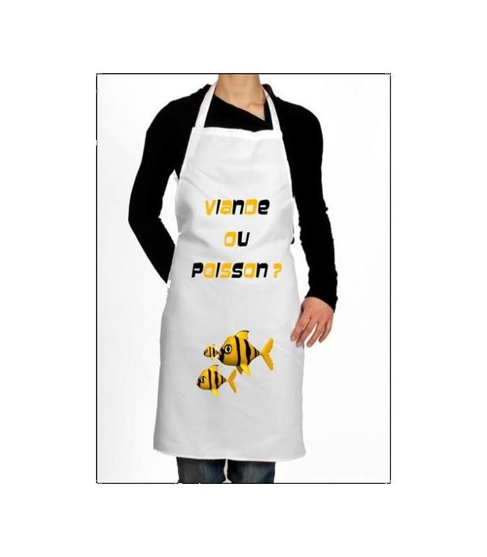 tablier de cuisine poisson