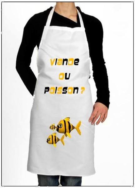 Tablier cuisine poisson