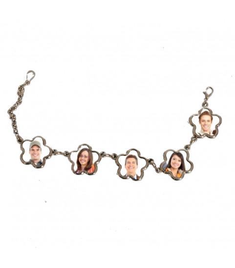 Bracelet fleurs personnalisé