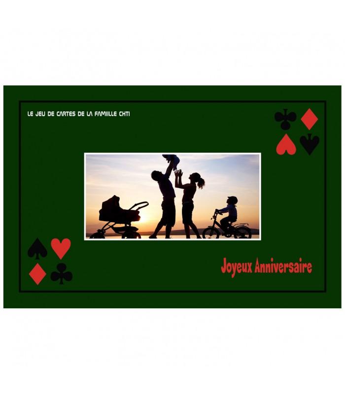 Tapis jeu de cartes personnalisé