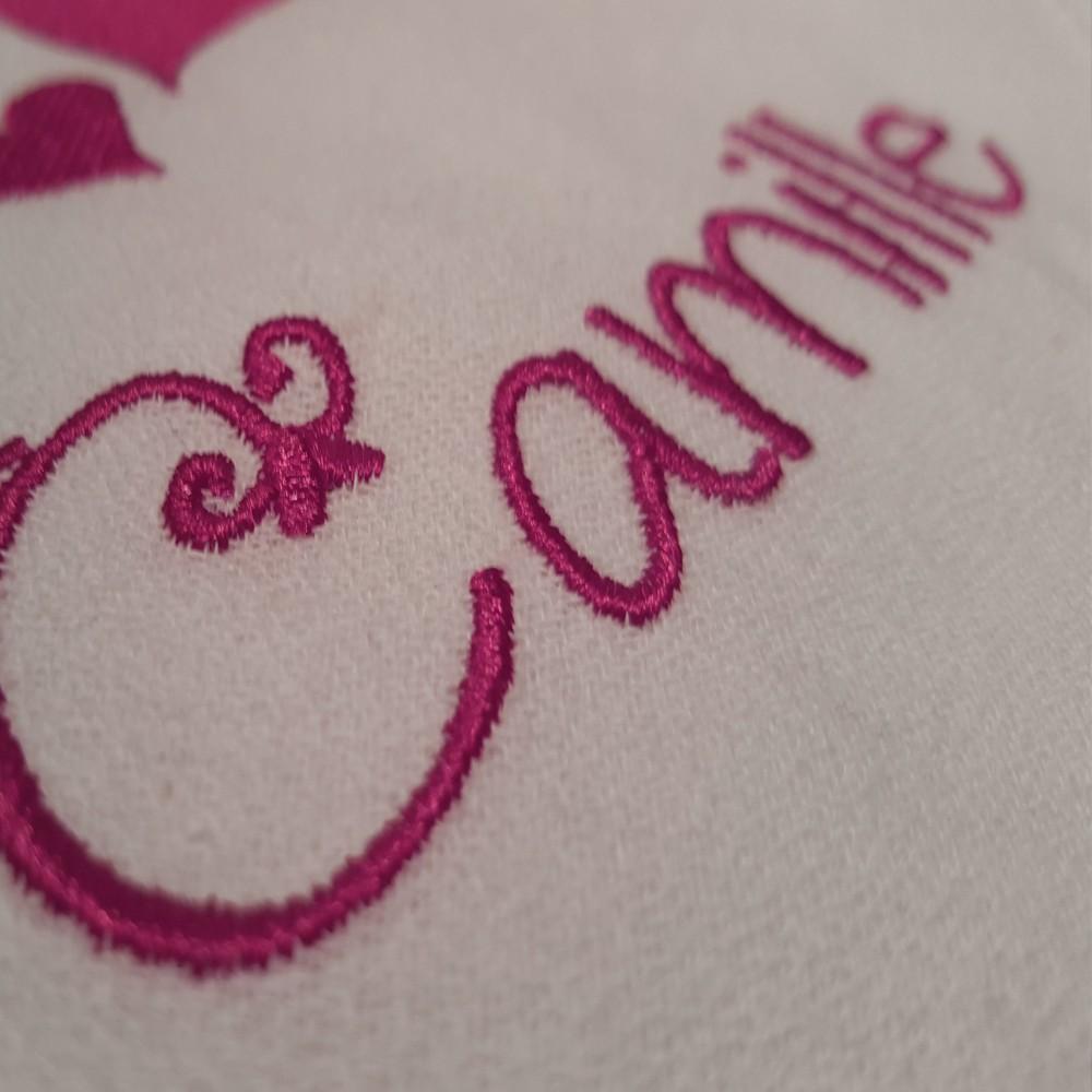 Serviette de table brod e et personnalis e pour repas de mariage broderie - Serviette de table mariage ...
