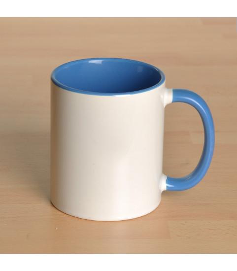 Mug personnalisé avec photo contour bleu
