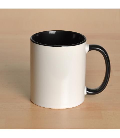 Mug personnalisé avec photo contour noir