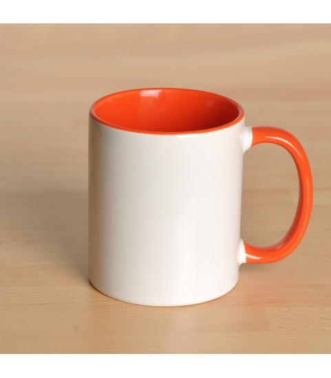 Mug personnalisé avec photo contour orange