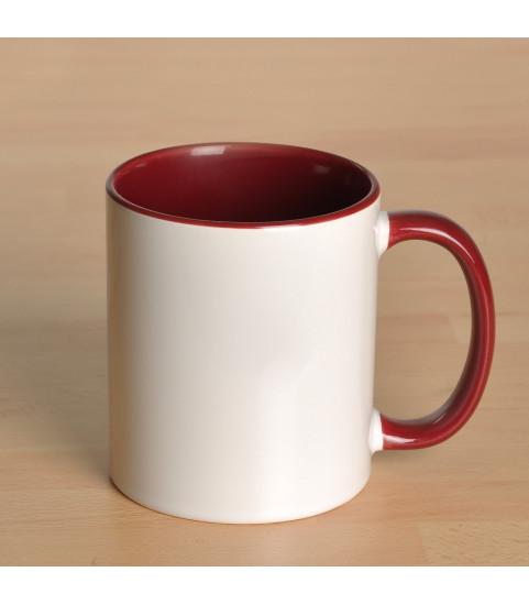 Mug personnalisé avec photo contour bordeaux