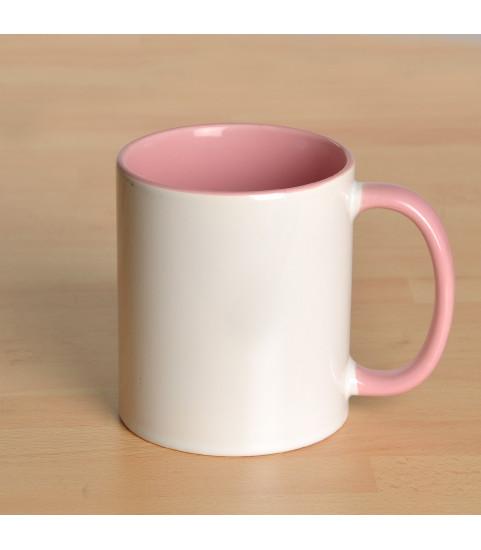 Mug personnalisé avec photo contour rose