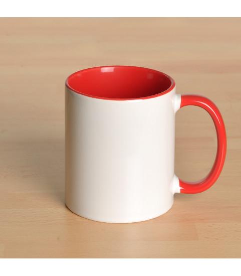 Mug personnalisé avec photo contour rouge
