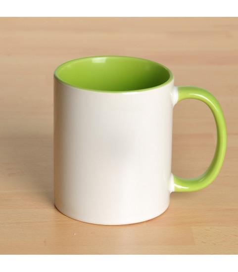 Mug personnalisé avec photo contour vert clair