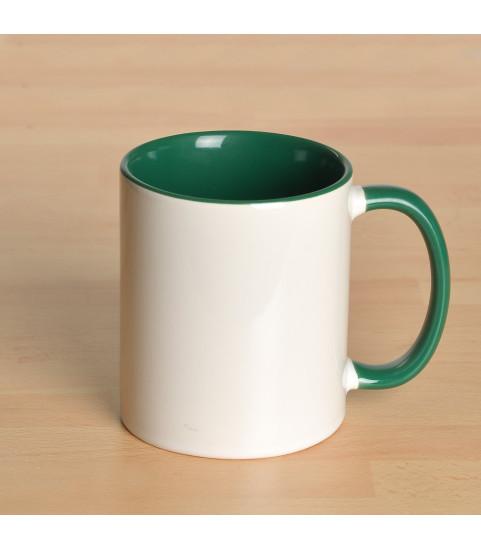 Mug personnalisé avec photo contour vert