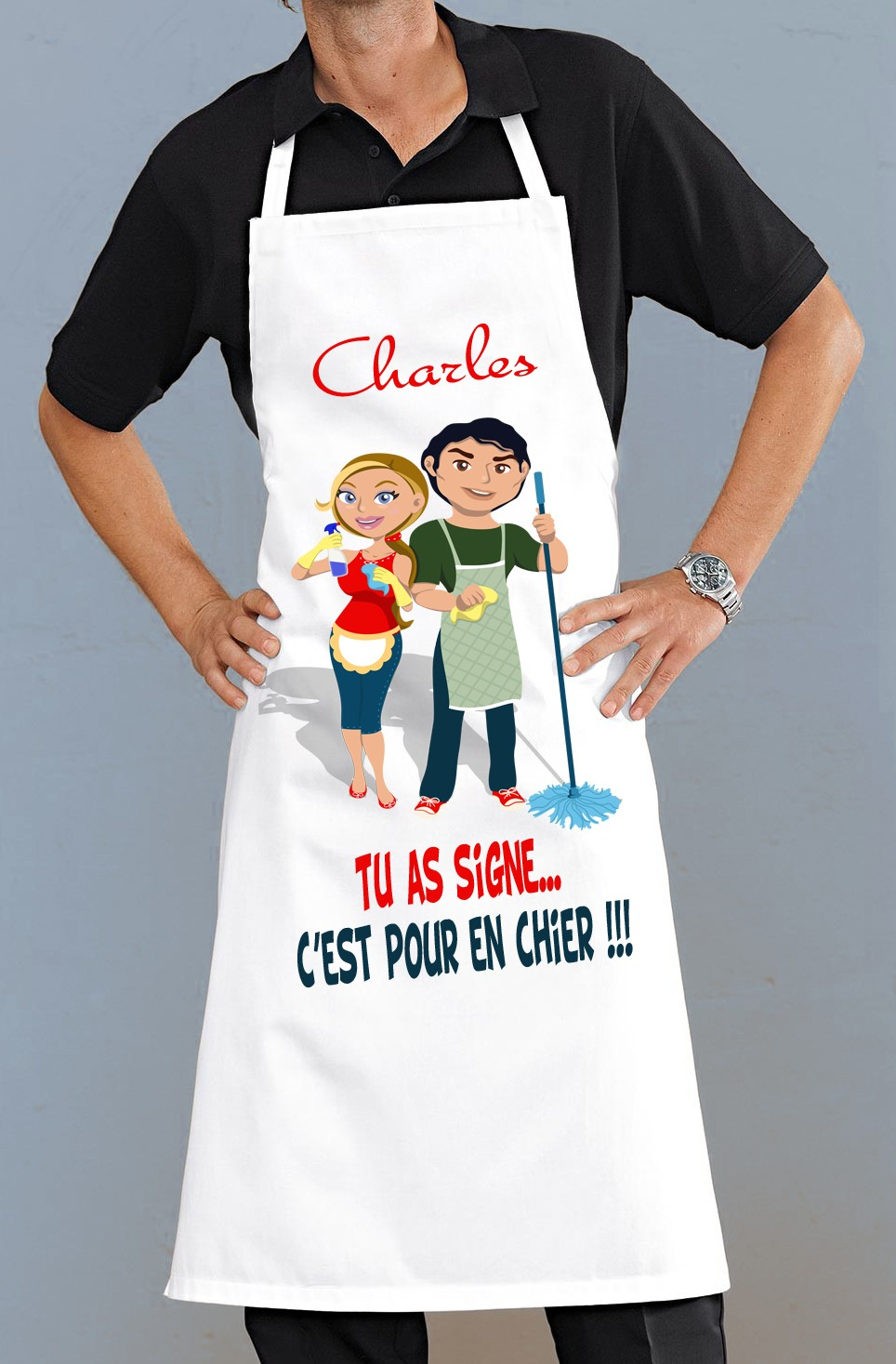 Tablier de cuisine tr s rigolo pour faire un cadeau - Ustensiles de cuisine rigolo ...