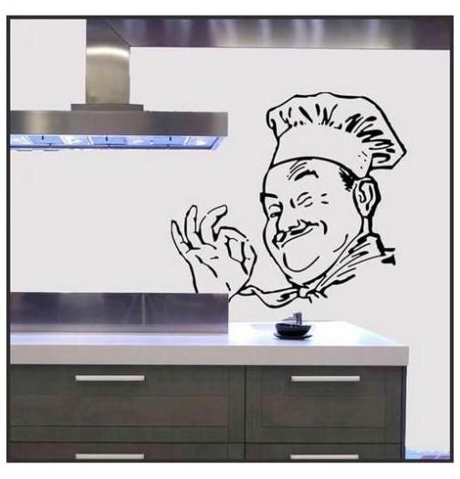 Decoration de ma cuisine avec des stickers originaux - Poste de chef de cuisine ...