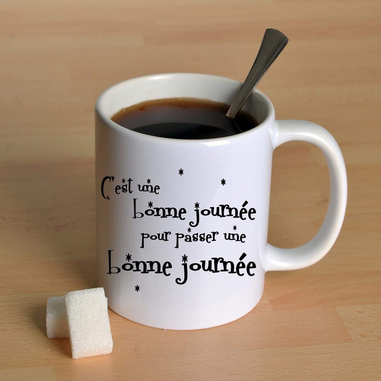 mug pour passer une bonne journ e offrir en cadeau magique pas cher. Black Bedroom Furniture Sets. Home Design Ideas