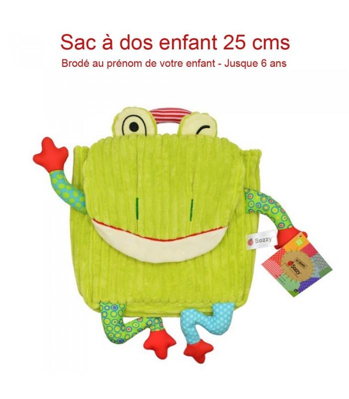 sac dos enfant grenouille color pour le gouter cadeau sympa enfant. Black Bedroom Furniture Sets. Home Design Ideas