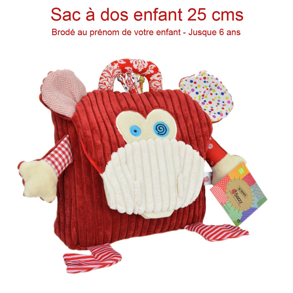 sac dos enfant singe original et pas cher pour gouter enfant cadeau. Black Bedroom Furniture Sets. Home Design Ideas