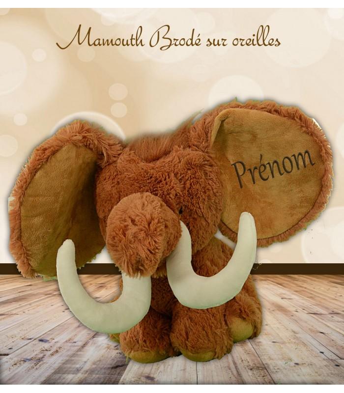 Mamouth brodé personnalisé