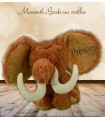 Mamouth peluche broderie