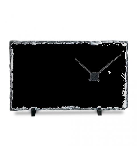Photo sur horloge en ardoise