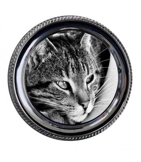 Assiette metal ronde 25 cms avec photo