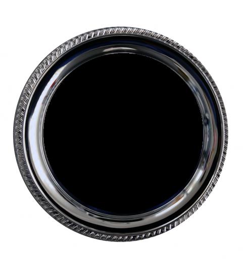 Assiette metal ronde photo