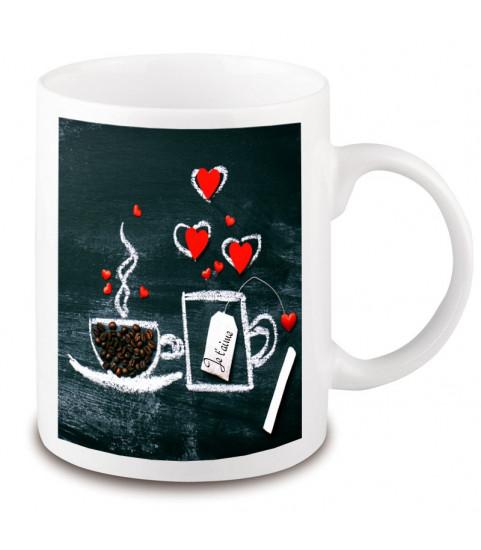 Mug café message coeur