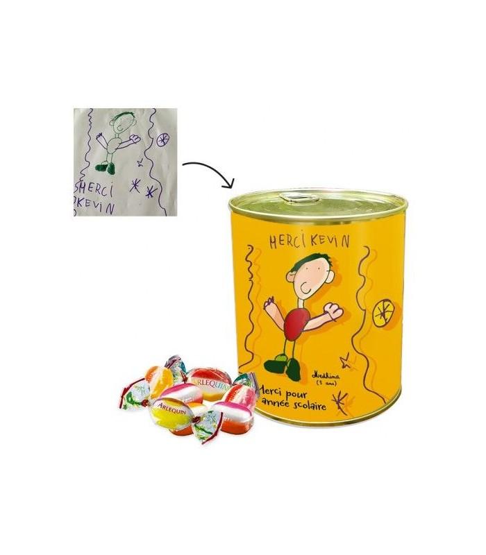Boite bonbons avec dessin enfant