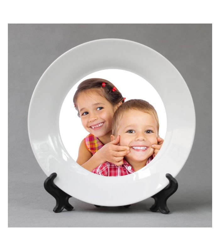 assiette personnalisée avec photo