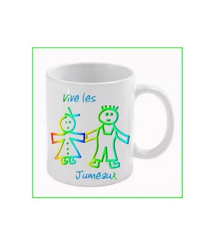 Cadeau mug  vive les jumeaux