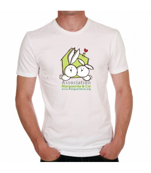 Tee shirt homme lapin marguerite