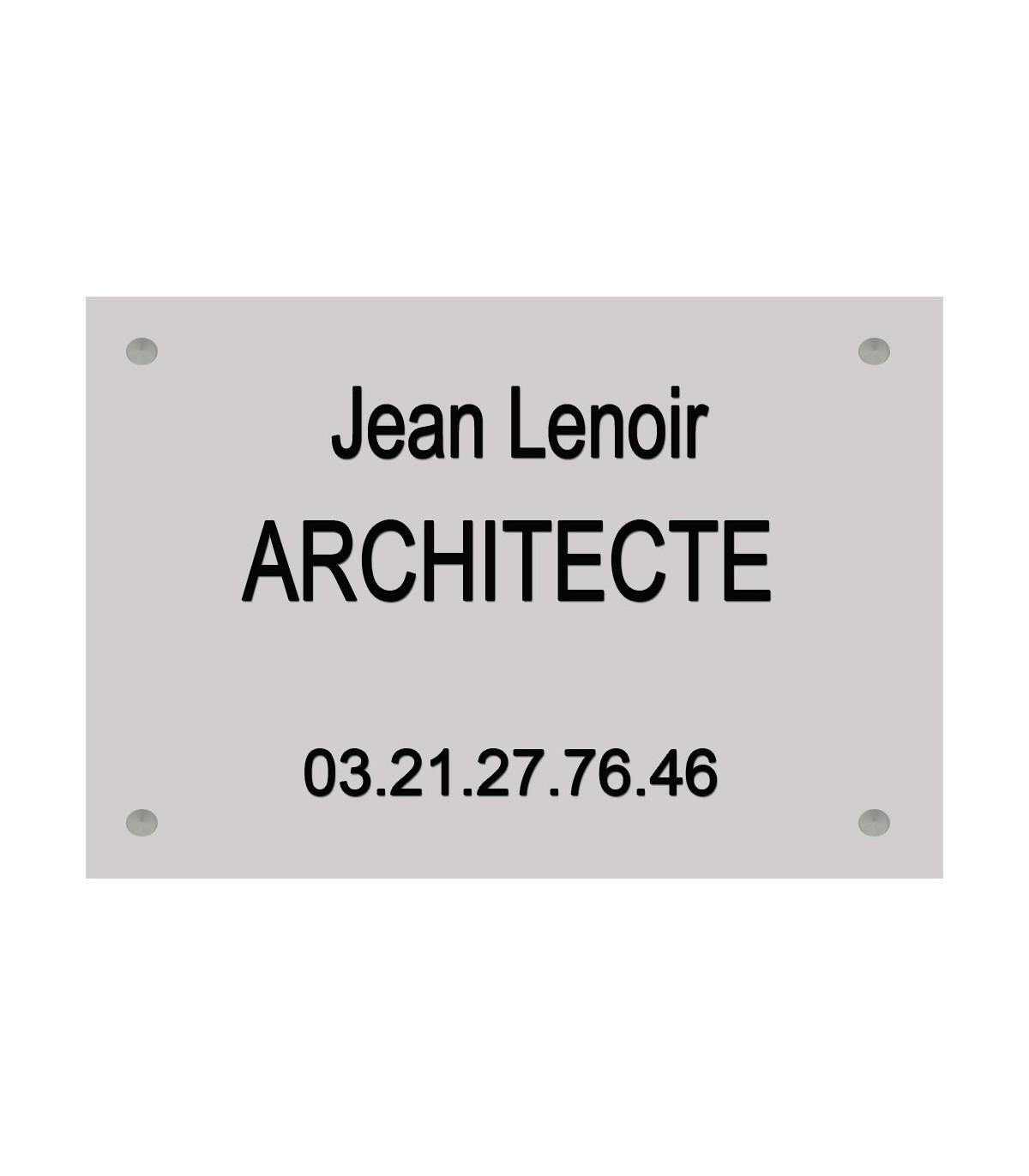Plaque architecte