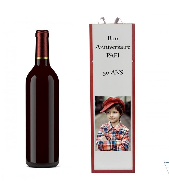 Boite à bouteille de vin personnalisée