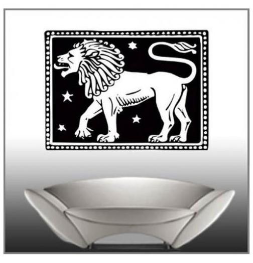 Sticker signe le lion