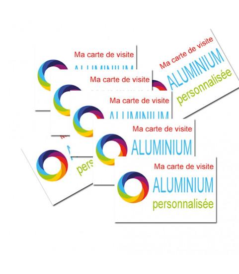 Carte de visite aluminimum