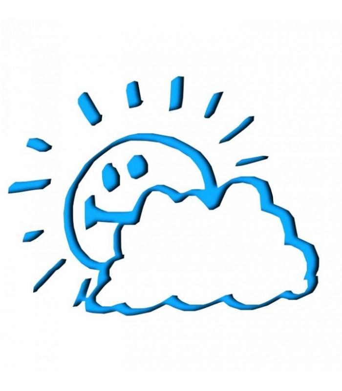 Sticker soleil et nuages