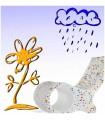sticker fleur et nuage
